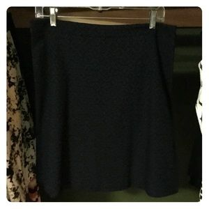 Black and blue winter skirt